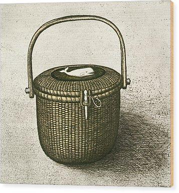 Nantucket Basket Wood Print by Charles Harden