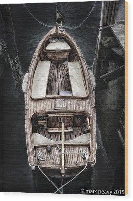 Nantucket Boat Wood Print
