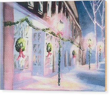 Nantucket Christmas Wood Print by Joseph Gallant