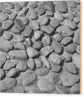 Nantucket Cobblestones Wood Print by Charles Harden