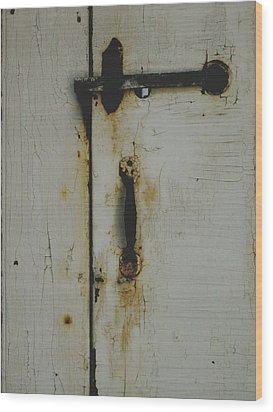 Nantucket Door Wood Print
