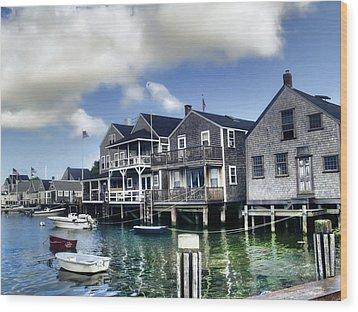 Nantucket Harbor In Summer Wood Print