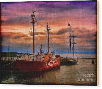 Nantucket Lightship Wood Print by Jeff Breiman