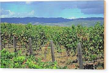 Wood Print featuring the photograph Napa by Corinne Rhode