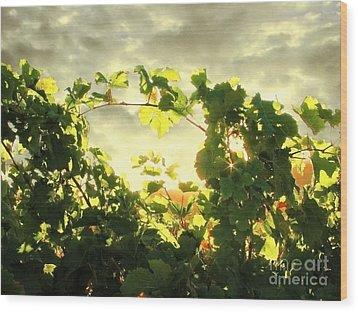 Napa Dusk Wood Print by Ellen Cotton