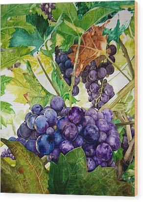 Wood Print featuring the painting Napa Harvest by Lance Gebhardt