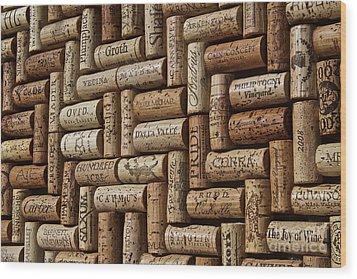 Napa Valley Wine Auction Wood Print by Anthony Jones