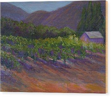 Napa Vineyard Wood Print by Bonnie Hanly