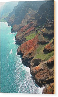 Napali Coast Of Kauai Wood Print by Frank Wilson