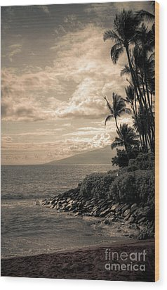 Wood Print featuring the photograph Napili Heaven by Kelly Wade