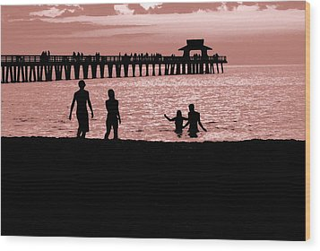 Naples Florida Sunset Wood Print