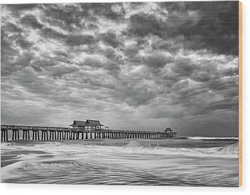 Wood Print featuring the photograph Naples Monochrome by Mike Lang