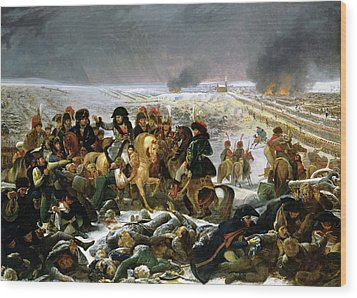 Wood Print featuring the painting Napoleon At Eylau  by Antoine Jean Gros