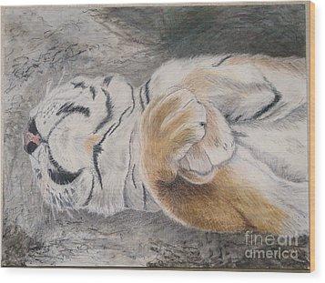 Napping Wood Print by Maris Sherwood