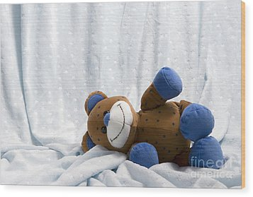 Naptime 1 Wood Print by Jeannie Burleson