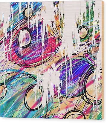 Narcotics Of The Mind Wood Print by Rachel Christine Nowicki