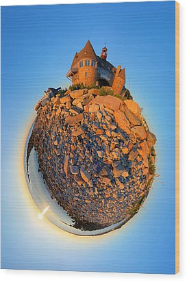 Narraganset Towers 2- Planet Wood Print by Christopher Blake