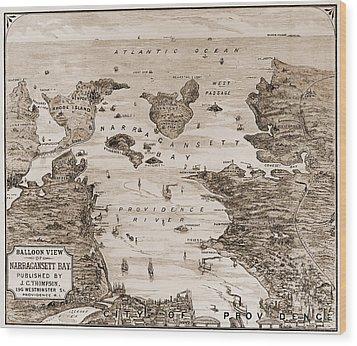 Narragansett Bay, C1880 Wood Print by Granger