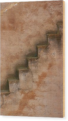 Wood Print featuring the photograph Narrow Stairs by Ramona Johnston