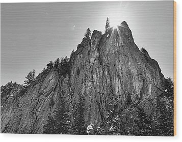 Wood Print featuring the photograph Narrows Pinnacle Boulder Canyon by James BO Insogna