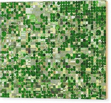 Nasa Image-finney County, Kansas-2 Wood Print