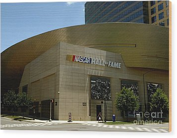 Nascar Hall Of Fame Wood Print