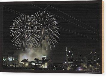 Nashville 4th Of July Wood Print by Sheri Bartoszek