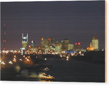 Nashville At Sixty Five Mph Wood Print by Mark Currier