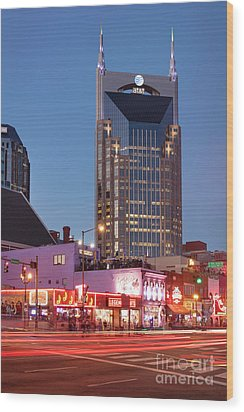 Wood Print featuring the photograph Nashville - Batman Building by Brian Jannsen