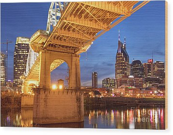 Wood Print featuring the photograph Nashville Bridge IIi by Brian Jannsen