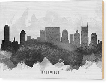 Nashville Cityscape 11 Wood Print by Aged Pixel
