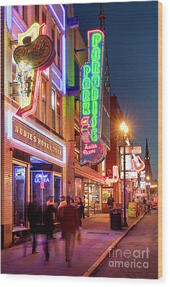 Wood Print featuring the photograph Nashville Signs II by Brian Jannsen