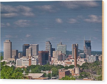 Nashville Skyline 1 Wood Print by Douglas Barnett