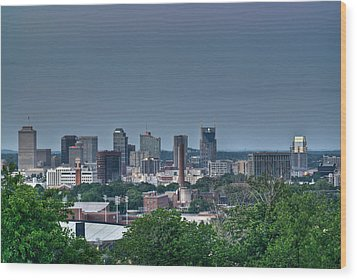Nashville Skyline 2 Wood Print by Douglas Barnett