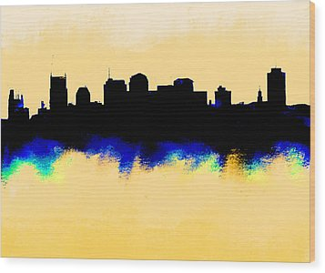 Nashville  Skyline  Wood Print by Enki Art