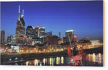 Nashville Skyline Wood Print by Giffin Photography