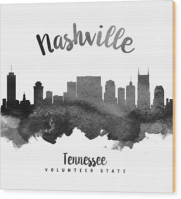Nashville Tennessee Skyline 18 Wood Print by Aged Pixel