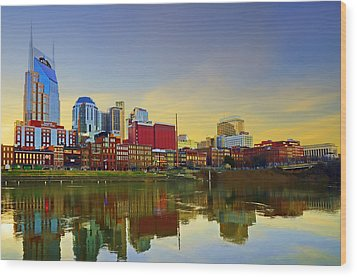 Nashville Tennessee Wood Print by Steven  Michael