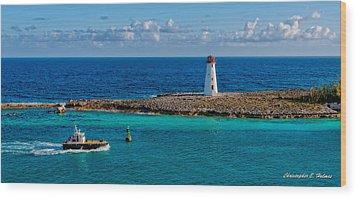 Nassau Harbor Lighthouse Wood Print by Christopher Holmes