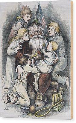 Nast: Christmas, 1879 Wood Print by Granger