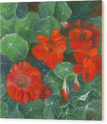 Nasturtiums Wood Print by FT McKinstry
