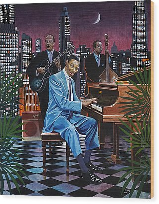 Nat King Cole - After Midnight Wood Print by Jo King