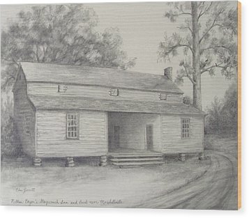 Nathan Bryan's Stagecoach Inn And Bank Near Marshallville Wood Print