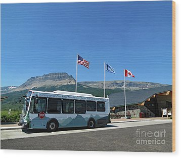 Wood Print featuring the photograph National Parks. St. Mary Visitor Center At Glacier by Ausra Huntington nee Paulauskaite
