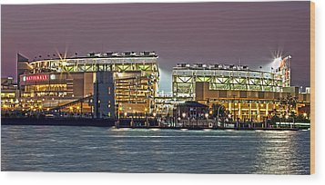 Nationals Park - Baseball Stadium - Washington Dc Wood Print by Brendan Reals
