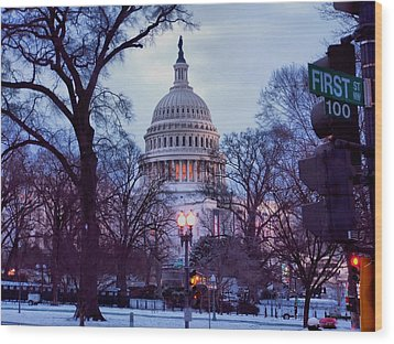 Nations Capitol Wood Print by Jimmy Ostgard