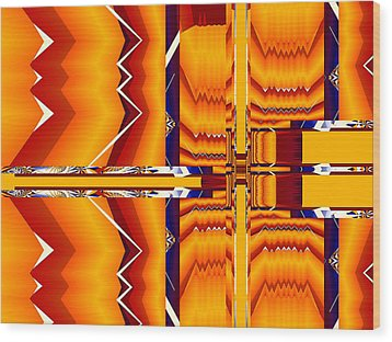 Wood Print featuring the digital art Native Abstract by Fran Riley