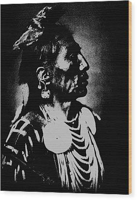 Native American 2 Curtis Wood Print by David Bridburg