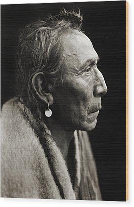 Native American Aki-tanni Two Guns Wood Print by Jennifer Rondinelli Reilly - Fine Art Photography