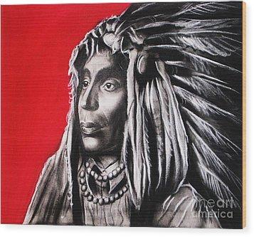 Native American Wood Print by Anastasis  Anastasi